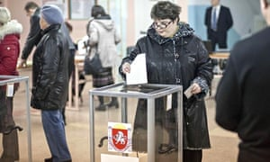 Crimea votes to secede from Ukraine in 'illegal' poll