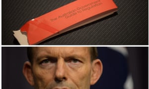 Tony Abbott and his red tape.