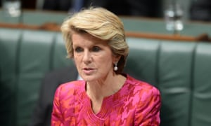 Foreign minister Julie Bishop outlining Australia's involvement in the search for the missing Malaysian Airlines plane.
