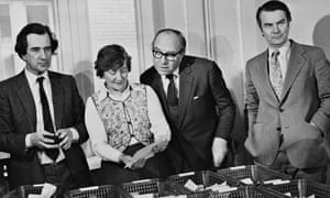 William Rodgers, Shirley Williams, Roy Jenkins & David Owen with funds from SDP supporters, Feb 1981