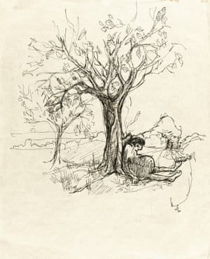 """""""I sat belonely down a tree, humbled fat and small"""" from 'I Sat Belonely' by John Lennon"""