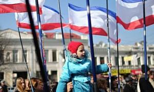 Crimea flag waving