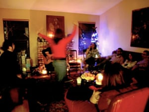 people in a living room during an iranian party