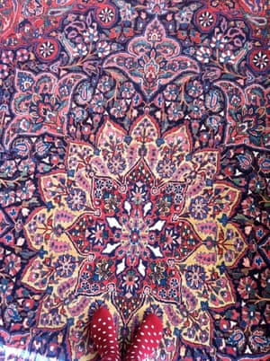 a patterned living room carpet in iran
