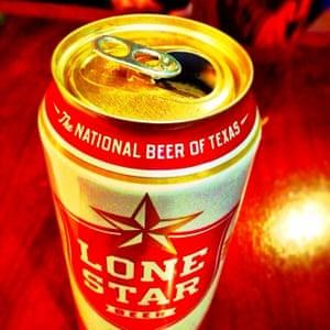 A pre gig Lone Star beer