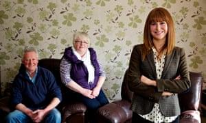 Rachael Jones with her parents Gwen and Phillip.