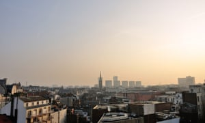center of the northern France city of Lille as more than 30 departments in France are hit by maximum level pollution alerts
