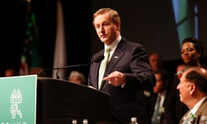 Prime minister of Ireland Enda Kenny speaks at the annual St Patrick's Day breakfast in Boston.