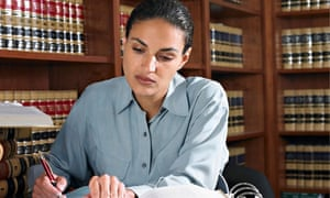 lawyer working in office