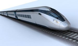 A handout photo issued by HS2 of the potential HS2 train design.