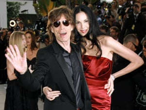 Mick Jagger and L'Wren Scott at the Vanity Fair party, 2006.