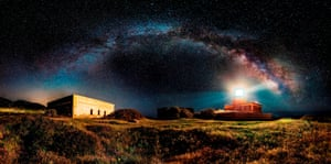 Ivan Pedretti, Italy - Starry lighthouse.  Winner of the Open Competition - Panoramic category.