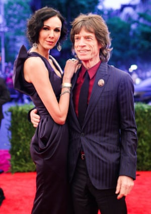 L'Wren Scott and Mick Jagger at the Costume Institute Gala Benefit, 2012.