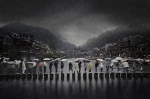 Chen Li, China - Rain in an ancient town.  Winner of the Open competition - Travel category.