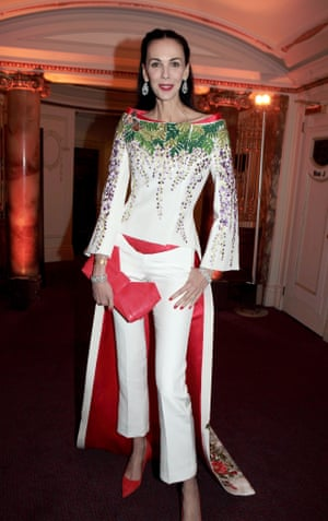 L'Wren Scott attends the British Fashion Awards 2013 drinks reception at the London Coliseum.