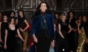 Designer L'Wren Scott is seen following her Fall/Winter 2012 collection during New York Fashion Week.