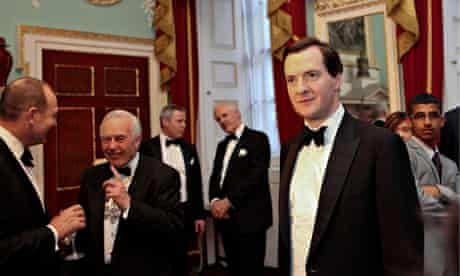 Bankers with George Osborne