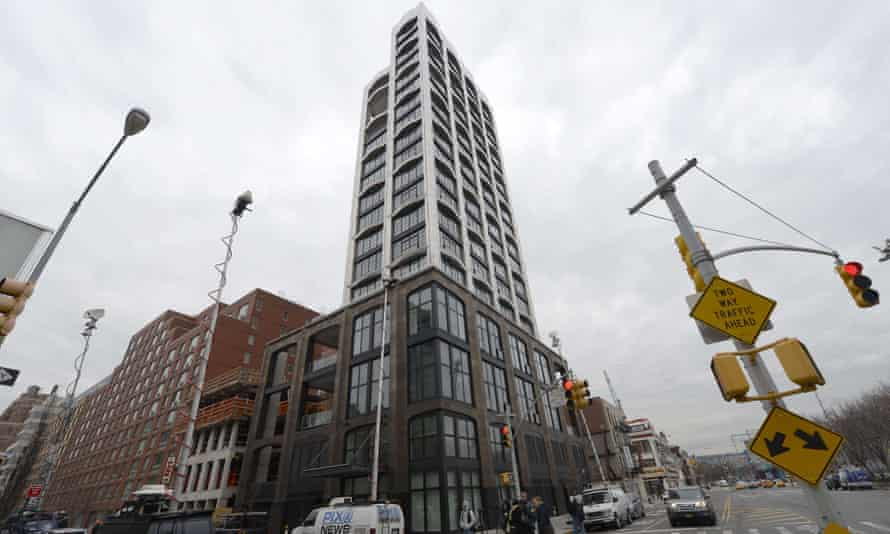 The Chelsea apartment building of L'Wren Scott,  after she was found dead
