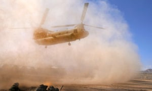 A US helicopter in Afghanistan. The latest suicide bombing comes as national elections loom and foreign forces prepare to pull out.