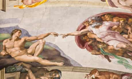 Sistine Chapel hand of god and the creation of man