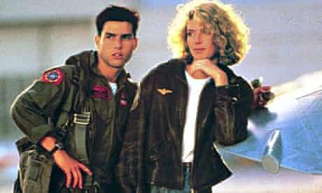 Tom Cruise and Kelly McGillis in Top Gun