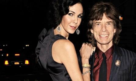 L'Wren Scott and Mick Jagger attend a gala