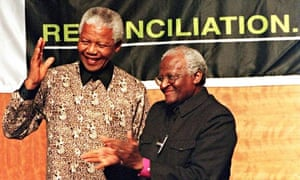 Nelson Mandela with Desmond Tutu