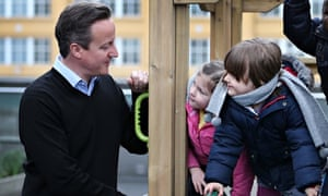 David Cameron visits Coin Street nursery in London