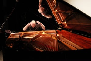 Nick van Bloss rehearses Bach's Goldberg Variations on a Steinway grand  during the inaugural It's All About Piano! festival at the The Institut Francais in March 2013.
