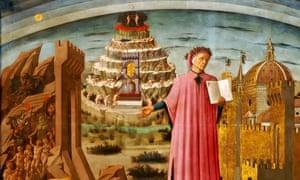 A detail from Dante and the Divine Comedy, by Domenico di Michelino