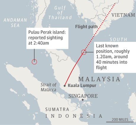 Malaysia Airlines flight MH370: how the search has unfolded, day by ...