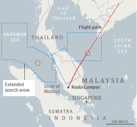 Malaysia Airlines flight MH370: how the search has unfolded ...