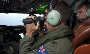 Australian aircraft conduct search operations in an area of 600,000 sq km off the western Australian coast.