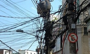 Power cables in Rocinha