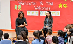 Michelle Obama at chinese school in US