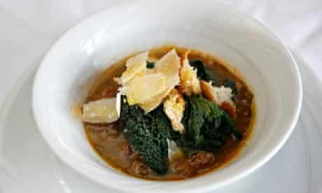 La Langhe Restaurant: cavolo nero and spelt soup