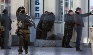What appear to be the arrest of Ukrainian soldiers by pro-Russian forces. ukraine crimea russia