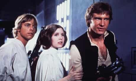 Luke Skywalker, Princess Leia and Han Solo in Star Wars