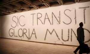 Sic Transit Gloria Mundi by artist Mircea Cantor at the Sydney Biennale