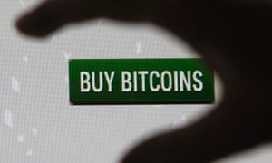 The screen of a Bitcoin vending machine in Singapore.