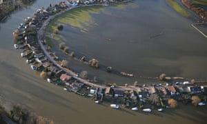 Flooding at Walton on Thames