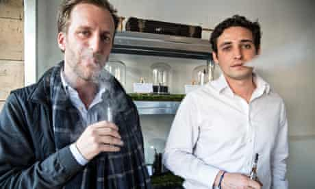 Pierre Durand and Jonathon Cadeilham in Vape Lab
