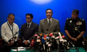 Malaysia's Minister Acting Transport Minister Hishammuddin Hussein speaks during a press conference at a hotel near Kuala Lumpur International Airport.