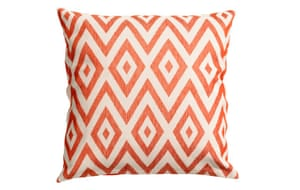 Space gallery: Orange patterned cushion