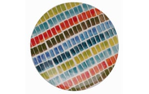 Space gallery: colourful patterned plate