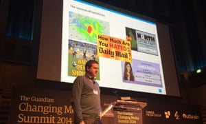 Malcolm Coles from Trinity Mirror on stage at CMS 2014.