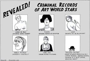 Peter Duggan's Artoon: Criminal records of art world stars
