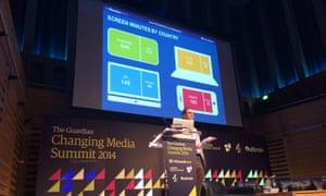Duncan Southgate, global brand director for digital, Millward Brown on stage at CMS 2014.