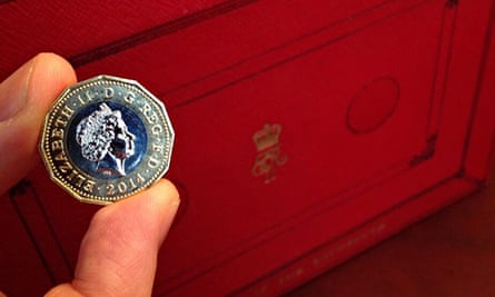 George Osborne Twitter picture of new pound coin