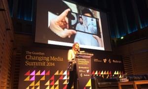 Anna Cronin on stage at CMS 2014.